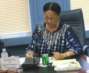 Dr. Pauline Riak, chairperson of Southern Sudan Anti-Corruption Commission from 2006 until November 2011 (ST)