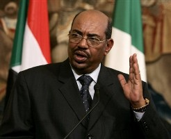 FILE - In this Jan. 21, 2008 file photo, Sudan's President Omar al-Bashir seen during a news conference with his Turkish counterpart Abdullah Gul, not pictured, in Ankara, Turkey (AP)