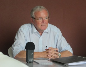 Michael Elmquist, the head of the joint donor team (JDT) to South Sudan, in Juba. April 12, 2011 (ST)