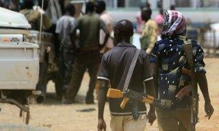 Armed men near the north/South Sudan border (AFP/Getty)
