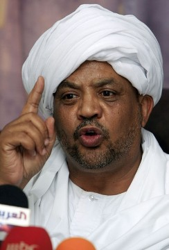 Kamal Omer Abdel Salam of the Popular Congress Party (Reuters)