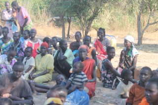 People displaced in Northern Bahr El Ghazal state by alleged SAF bombings in 2012 (Office of the Aweil North county commissioner/File)