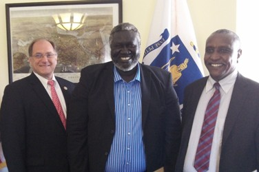 A picture showing US Congressman Capuano with SPLM-N leader Malik Agar and its sceretary general Yasir Arman during a visit to Washington in 2012 (photo SPLM-N)