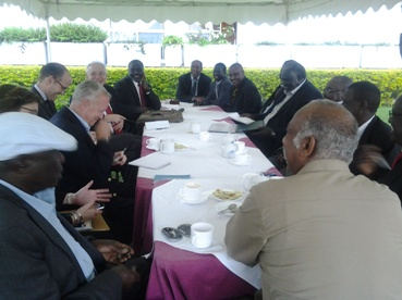 United States special envoy to Sudan Donald Booth meeting with leaders of the Sudan Revolutionary Front (SRF handout)