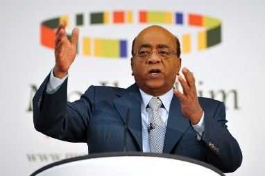 Sudanese-born tycoon Mo Ibrahim speaks at the announcement of the 2013 Ibrahim Prize for Achievement in African Leadership in London on 14 October 2013 (Photo: AFP/Carl Court)