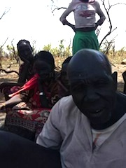 Samuel Deng Awuol, who has been dispalced in the South Sudanese conflict speaks to Sudan Tribune under a tree in Melijo, Eastern Equatoria state on February 14, 2014 (ST)