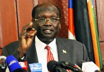 South Sudan's foreign affairs minister Barnaba Marial Benjamin (AP/Getty)