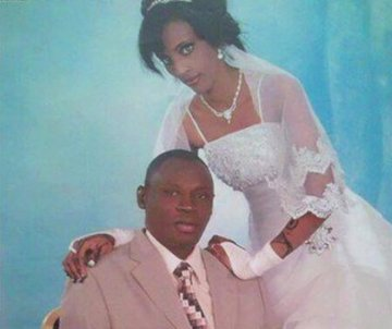 Meriam Yehya Ibrahim Ishag's wedding photo (BBC)