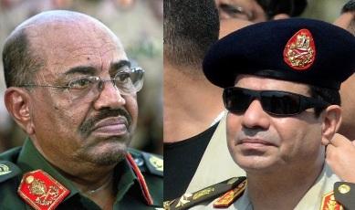 Sudanese president Omer Hassan al-Bashir (L) & Egypt's president-elect Abdel-Fatah al-Sisi (R)
