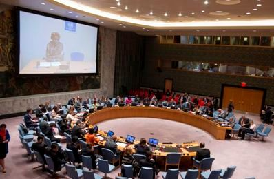 A United Nations Security Council briefing on sexual violence in South Sudan on 22 October 2014 (Photo: UN)