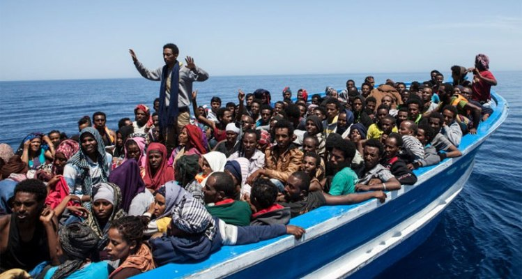 Undated picture for East African migrants rescued by the charity group Migrant Offshore Aid Station (Photo MOAS)