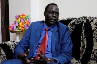 James Gatdet Dak, Riek Machar's spokesperson 'Reuters photo)