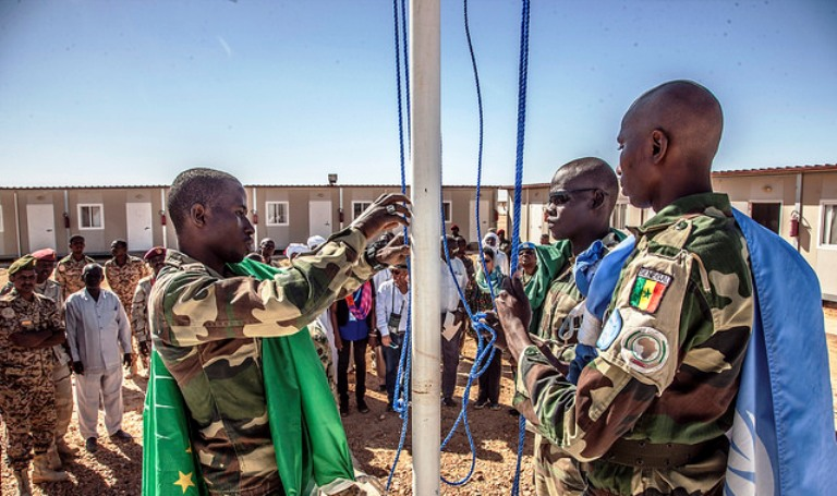 UNAMID officially handed over the Mission's team site in Tine, North Darfur, to the Government of Sudan, on 19 October 2017 (UNAMID Photo