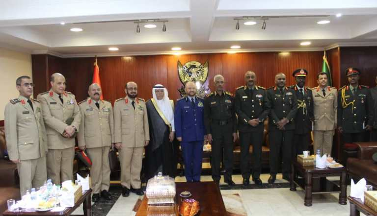 Visiting Saudi military delegation headed by saudi chief of staff received by Sudanese defence minister on 18 Dec 2018 (ST photo)