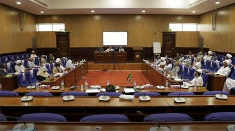 Sudanese cabinet members meet in Suba on 25 June 2021 (ST photo)